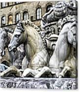 Italian Fountain Canvas Print