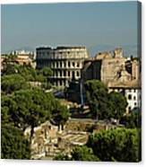 Italian Landscape With The Colosseum Rome Italy  Canvas Print