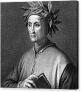 Italian Poet Dante Alighieri Canvas Print