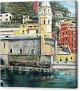 Italian Riviera - Cinque Terre Colors Canvas Print