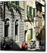 Italian Scooters Canvas Print