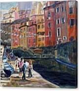 Italian Town Canvas Print