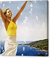 Italian Travel Poster, 1951 Canvas Print