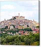 Italian Village From Afar Canvas Print