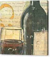 Italian Wine And Grapes Canvas Print
