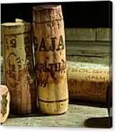 Italian Wine Corks Canvas Print