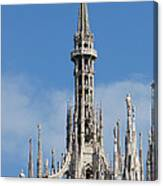 The Spire Of Milan Cathedral Canvas Print