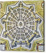Italy: Palmanova Map, 1598 Canvas Print