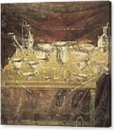 Italy. Pompeii. Vesuvius Gate. Tomb Canvas Print