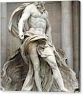Italy, Rome, Trevi Fountain, statue of Neptune Canvas Print