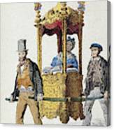 Italy Sedan Chair Canvas Print
