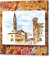 Italy Sketches Florence Towers Canvas Print