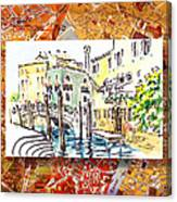 Italy Sketches Venice Canale Canvas Print