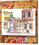 Italy Sketches Venice Piazza Canvas Print