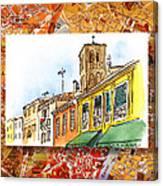 Italy Sketches Venice Via Nuova Canvas Print