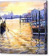 Italy Venice Dawning Canvas Print
