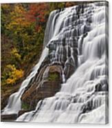 Ithaca Falls In Autumn Canvas Print