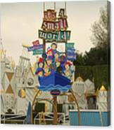 Its A Small World Fantasyland Signage Disneyland Canvas Print