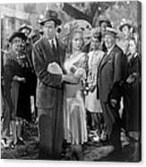 Its A Wonderful Life, Center From Left Canvas Print