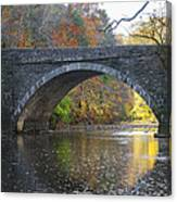 It's Autumn At The Valley Green Bridge Canvas Print