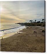 Its Beach Afternoon In Santa Cruz Canvas Print