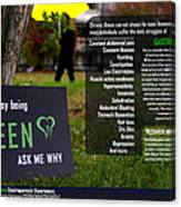 It's Not Easy Being Green Poster Canvas Print