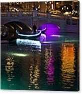 It's Not Venice - Brilliant Lights Glamorous Gondolas And The Magic Of Las Vegas At Night Canvas Print