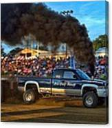 Its Only Money Pulling Truck Canvas Print