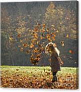 It's Raining Leaves Canvas Print