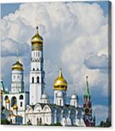 Ivan The Great Bell Tower Of Moscow Kremlin - Featured 3 Canvas Print