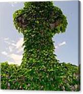 Ivy Covered Cross Canvas Print