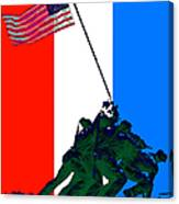 Iwo Jima 20130210 Red White Blue Canvas Print