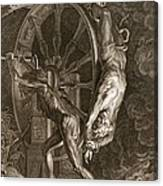 Ixion In Tartarus On The Wheel, 1731 Canvas Print