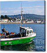 J B P Leaving The Harbour Canvas Print