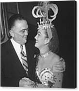 J. Edgar Hoover And Actress Dorothy Canvas Print