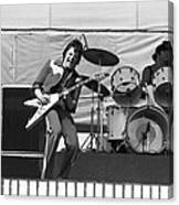 J. Geils On Stage In Oakland 1976 Canvas Print