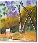 Jacaranda Tree Canvas Print