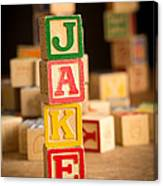 Jake - Alphabet Blocks Canvas Print