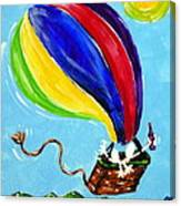 Jack And Charlie Fly Away Canvas Print