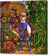Jack And The Beanstalk By Carol Lawson Canvas Print