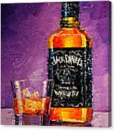 Still Life With Bottle And Glass Canvas Print