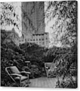 Jack Little's Garden In New York City Canvas Print