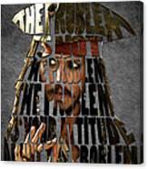Jack Sparrow Quote Portrait Typography Artwork Canvas Print