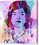 Jackie Kennedy Watercolor Canvas Print