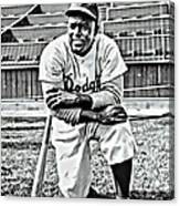 Jackie Robinson Painting Canvas Print
