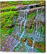 Jackson Falls At Mile 405 Natchez Trace Parkway-tennessee Canvas Print