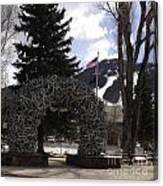 Jackson Hole Wyoming Antler Arch Canvas Print