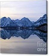Jackson Lake Reflections Canvas Print
