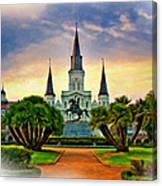 Jackson Square Evening Vignette Canvas Print