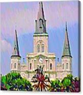 Jackson Square In The French Quarter Canvas Print